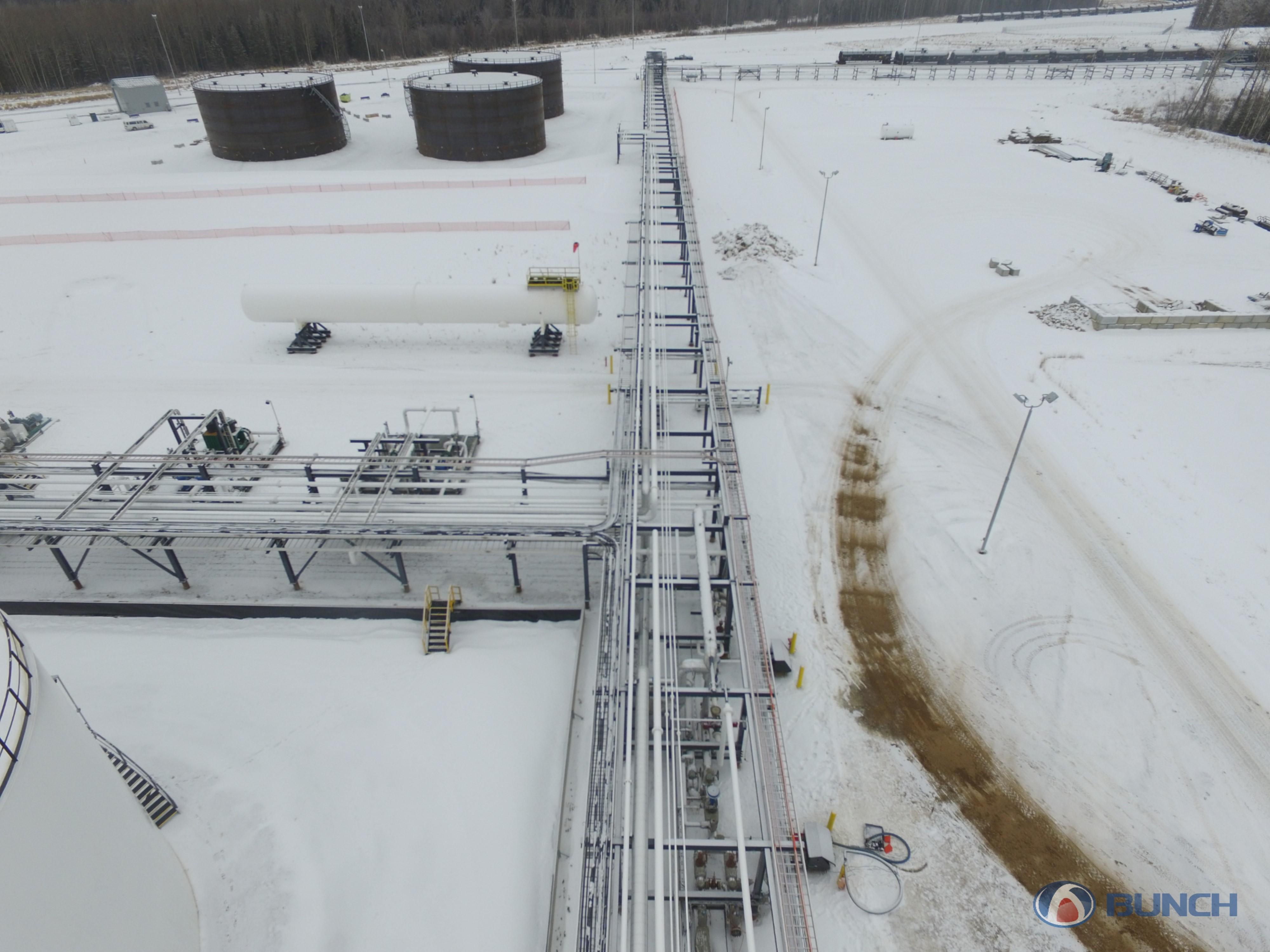 Bunch Rail Terminal Construction in Alberta