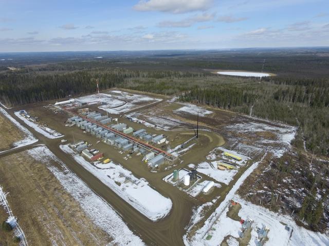 Shallow Cut Gas Plant Oilfield Construction